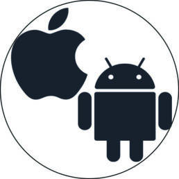 logo android et ios apple