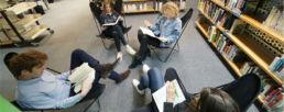 étudiants de la licence histoire en train de travailler à la bibliothèque vauban