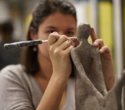 atelier scultpure du campus créatif de la catho