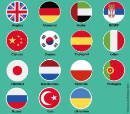 Drapeaux des Langues étrangères Clarife