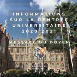 Informations rentrée campus FLSH La catho Lille