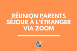 réunion zoom soirée parents