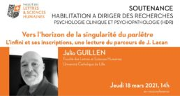 Visuel de la soutenance de Julio Guillen de la FLSH Lille